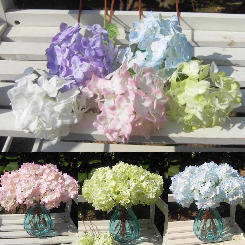 Free Shipping Lovely Realistic Light Purple Hydrangea Artificial Fake Flower Arrangement Hotel Wedding Decoration