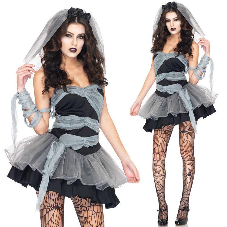 Costumi Donne Halloween Cosplay Vampire Zombie Decadence scuro fantasma styling nuziale locale notturno principessa Dress di Natale abbigliamento DK7802CP