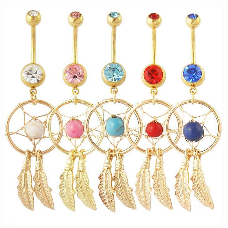 Acier Chirurgical cœur crystal Belly Navel Button Ring Barbell Piercing Bijoux
