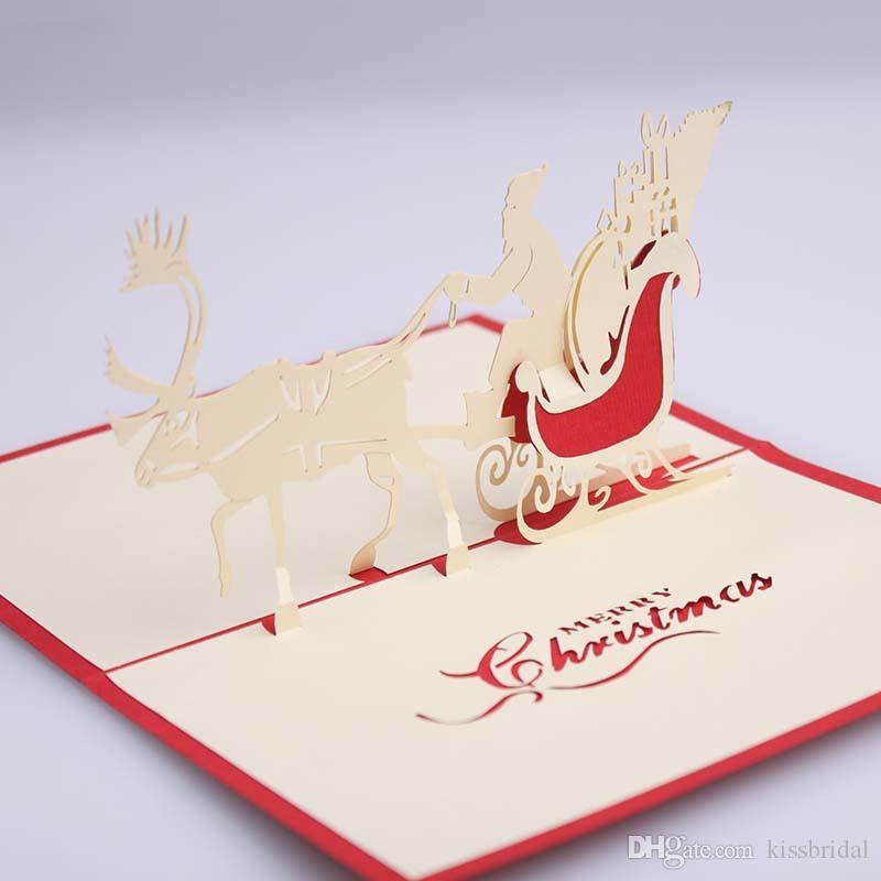 comercio al por mayor d hecho a mano de navidad tarjetas de felicitacin de los ciervos