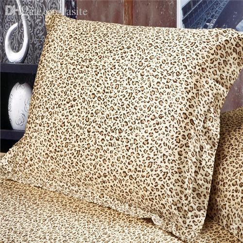 Venda por atacado- (2 peças / lote) capa de travesseiro rainha padrão de algodão de seda fronha branco / preto / rosa / roxo / leopardo capas de almofadas decorativas