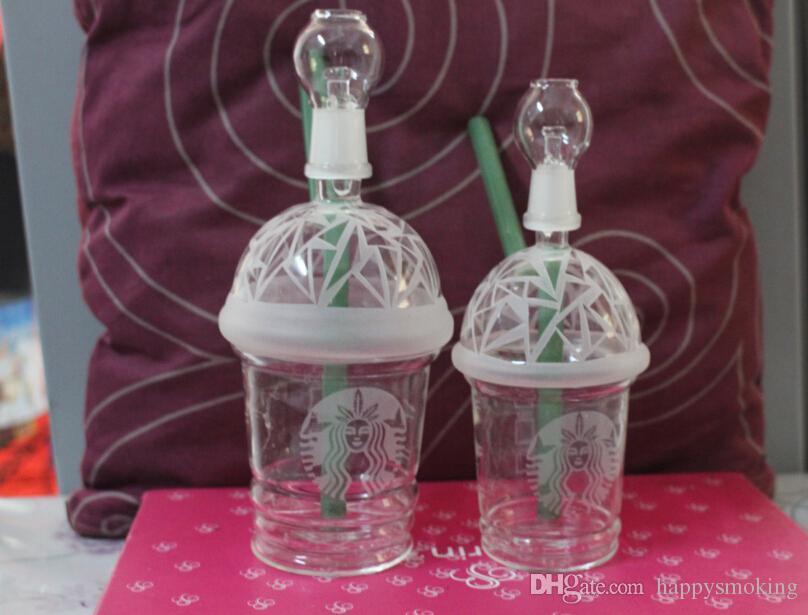 2015 Nuovo Dabuccino Rig Vetro sabbiato Starbuck Cup dab concentrato olio concentrato HITMAN GLASS X EVOL vetro DABUCCINO CUP Fimble foglia
