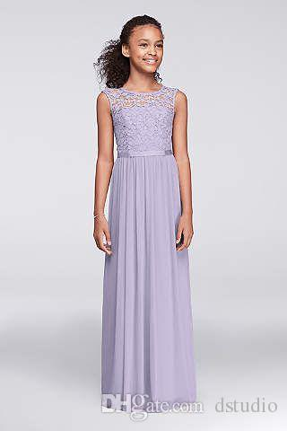 Junior Bridesmaid Dresses Chiffon With