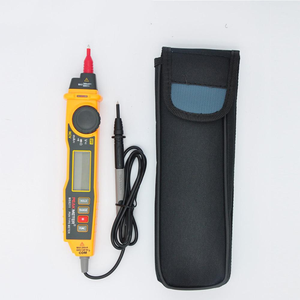 MS8211 NCV AC DC Current Voltage Resistance Diode Connectivity Multitester Pen Type Digital Multimeter-3