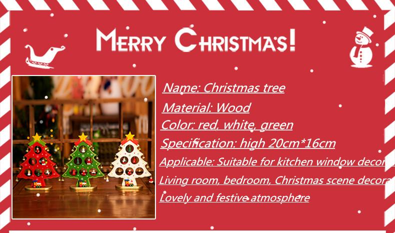 2017 New , Christmas Decorations Wooden Small Christmas Tree ...