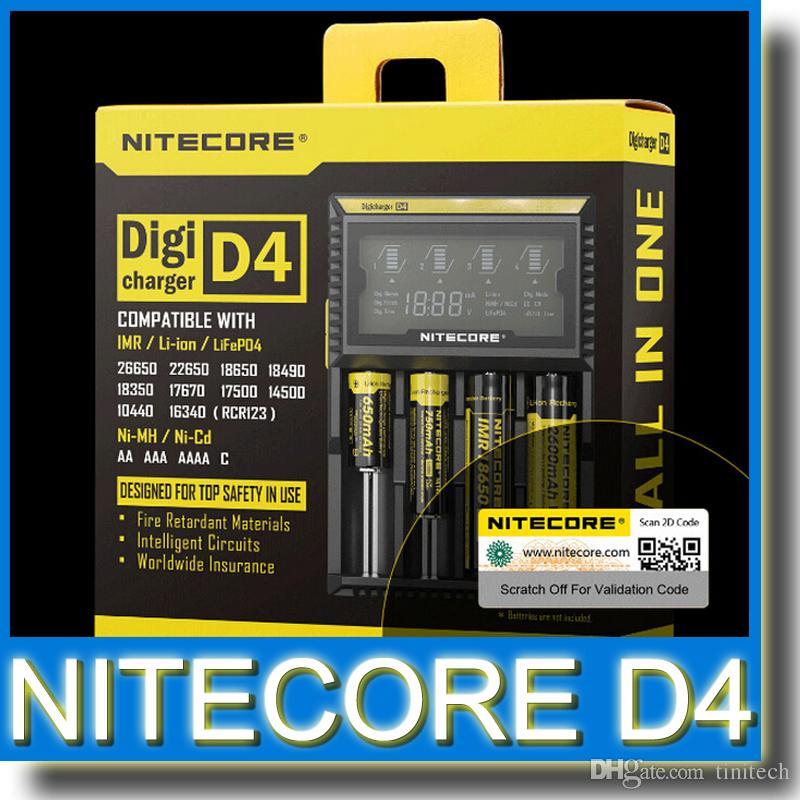 Подлинная Nitecore D4 зарядное устройство универсальный Intelli зарядное устройство ЖК-дисплей Mod E сигареты зарядное устройство интеллектуальный смарт 4 в 1