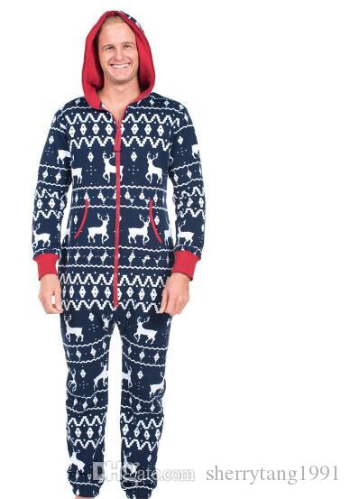 Jumpsuit Weihnachten.2019 Women Casual Christmas Jumpsuits Digital Printing Fashion Long Sleeve Female Rompers Zipper In Front Hoody Lady And Man Black Jumpsuits From