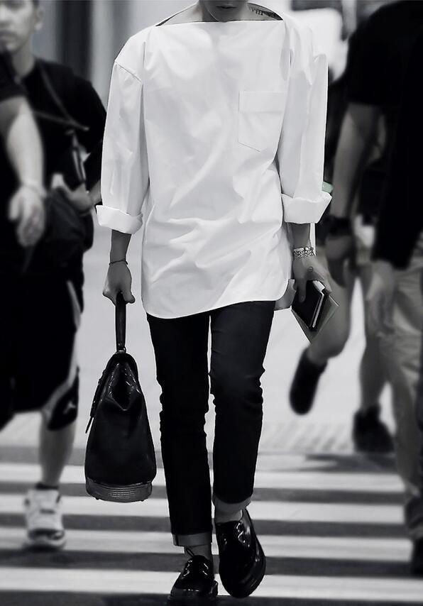الجملة-أزياء رجالي قمصان عادية الأبيض خمر الرجال اللباس قميص القوطية ملابس الرجال اللباس قمصان مصمم قمصان طوق أفقي