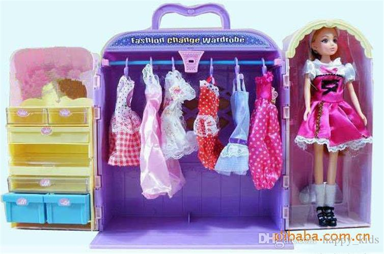 Dolls Box Toys Box Dolls Box Hot Children Lovely Plush Toys Closet Box Fashion Girls Doll Toys Large Box