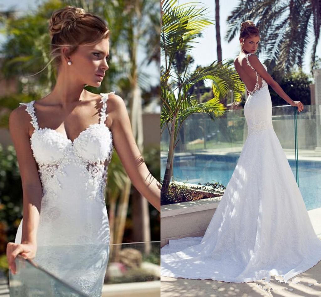 Beach Wedding Dresses with Train
