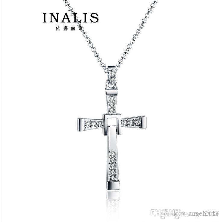 Nelly decorated by European and American trade fashion explosion models speed passion gilded cross necklace men jewelry