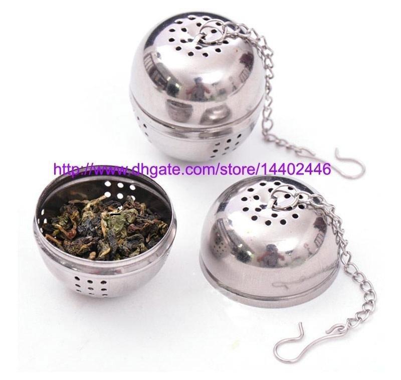 100 unids huevos de acero inoxidable en forma de bolas de té en forma de huevo teteras Teakettles infusor colador bloqueando la bola de especias 4 cm # 1548