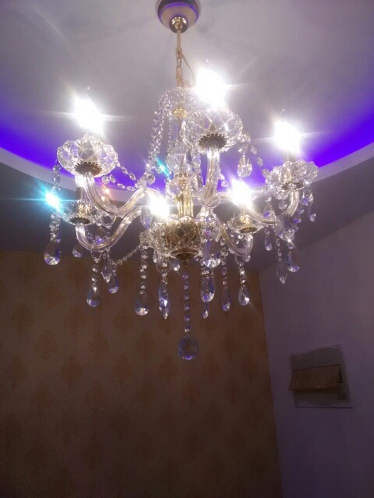 6-Light Avizeler kristal mini avize mutfak kristal avize lüks kristal lamba led oturma odası ucuz aydınlatma