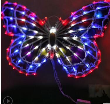 Açık lamba ışıkları avizeler düğün giyim mağazası pencere dekorasyon malzemeleri 50 cm büyük kelebek ilmek faaliyetleri