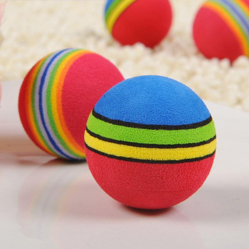 Juguetes para perros y bebés Juguetes para mascotas Juguetes para perros y gatos cachorros Chew Q Rainbow Ball Juguetes para gatos Productos para mascotas JIA603