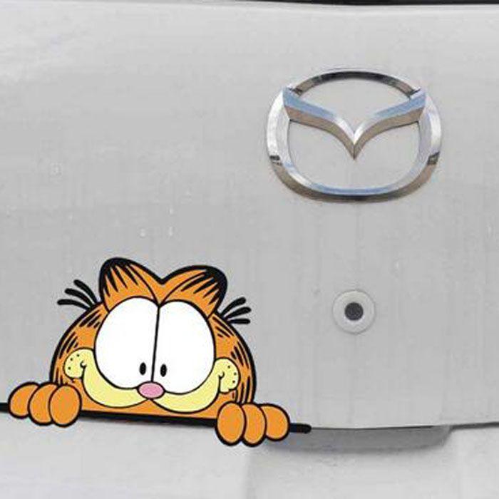 Garfield Pegatina de vinilo Coche Decal//
