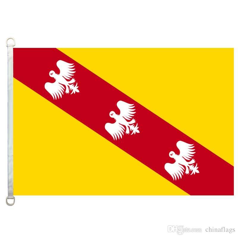 Хороший флаг Лотарингия флаги баннер 3X5FT-90x150cm 100% полиэстер флаги стран, 110gsm основы трикотажные ткани открытый флаг