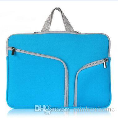 Moda portátil de proteção Caso Zipper luva Bolsa Para Macbook Air Pro Retina 11 12 13 15 polegadas Bolsa Bolsas de viagem à prova d'água