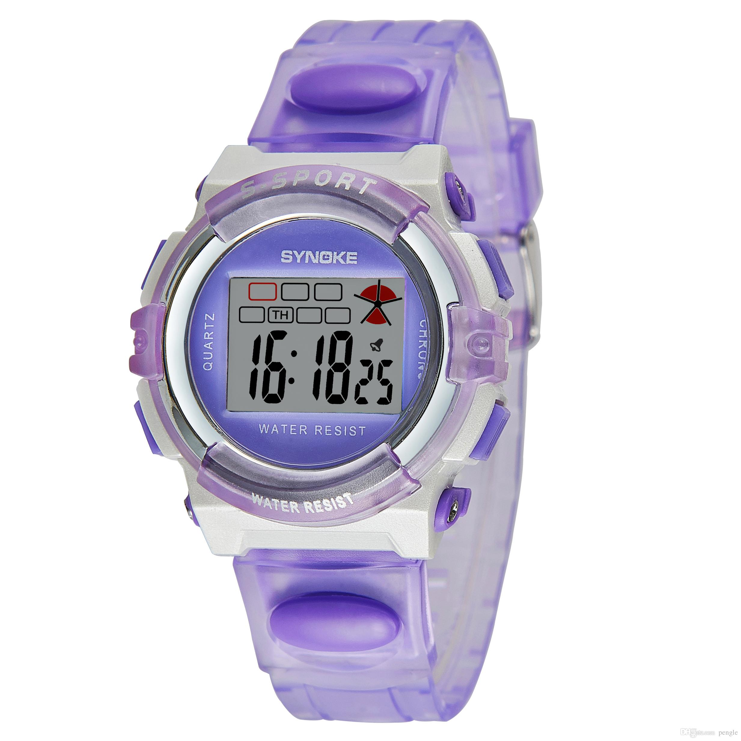 New Arrival Sports Life Waterproof Digital Watch Multi-Function Watches For Children 9 Colors Watches Free Shipping