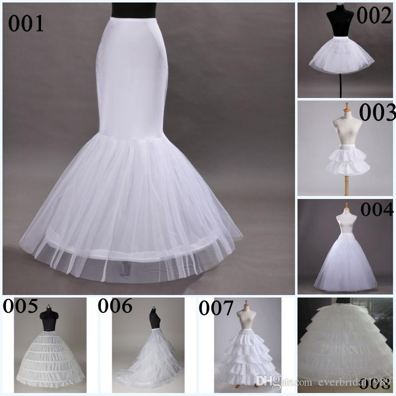 A Line Mermaid Wedding Petticoats 2015 8 Types Hoops Ball Gowns ...