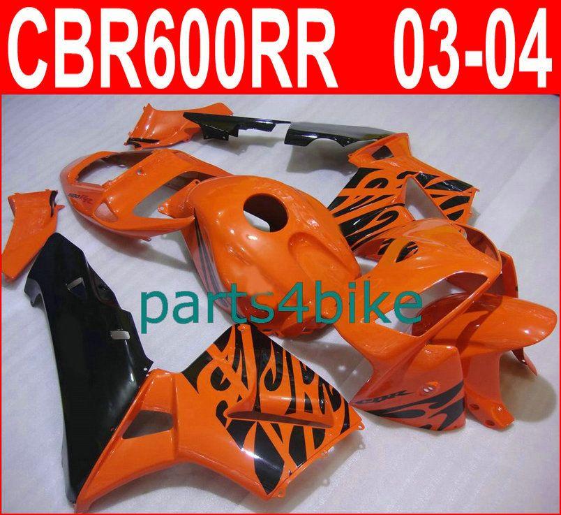 Bodykit arancio bruciato per carene Honda CBR600RR 2003 2006 Kit carene Parts4bike CBR 600RR 03 04 CBR 600 RR VVYP