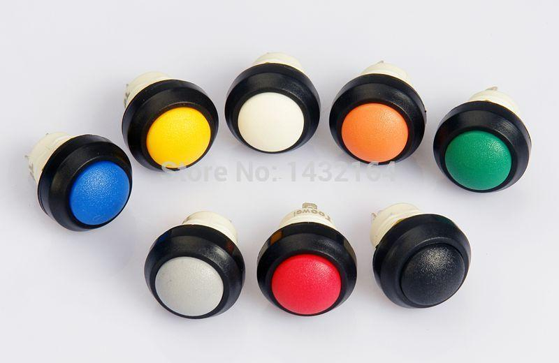 30 pcs Botão redondo interruptor de botão Momentary IP67 à prova d 'água
