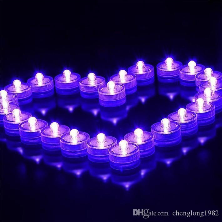 Waterproof Submersible LED Tea Light Electronic Candle Light for Wedding Valentine Party Christmas Romantic Decorations supplies