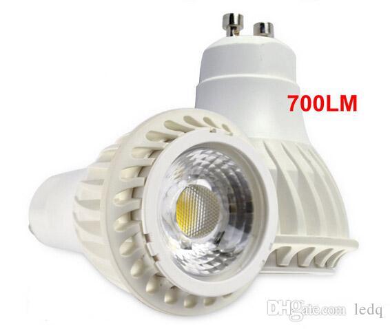 GU10 LED COB Spot Lights Lampara 7W Bombillas do nowoczesnej sypialni wewnętrznej Galeria Szafka Oświetlenie Dekoracji Ciepła Biała Fajna Biała Ce Rosz