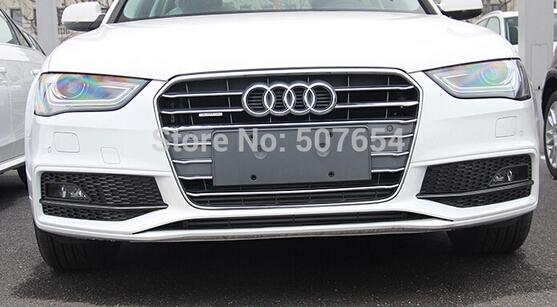 Free shipping!High quality ABS with Chrome 12pcs Front grill decoration bright trim for Audi A4L 2013-2015