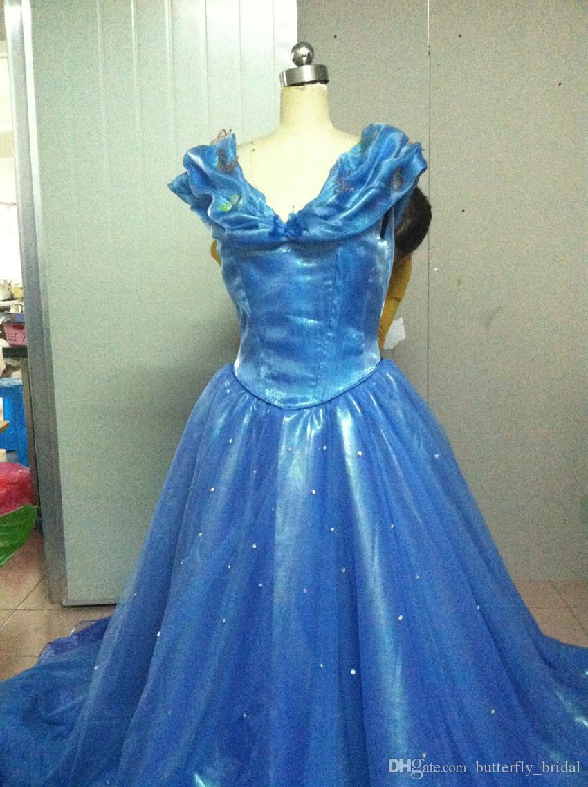 Color Accented Cinderella wedding dresses Free shipping Hote sale ...