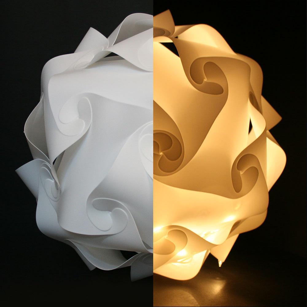Blanco 25cm / 30cm / 40cm moderna DIY Elementos IQ rompecabezas ZE lámpara del techo de la lámpara de la lámpara pendiente de la bola de luz de la iluminación 110-240