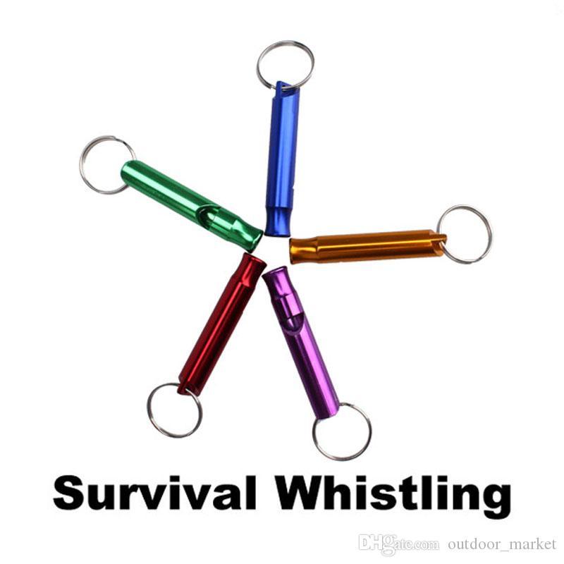 Открытый металлический многофункциональный свисток с брелок для ключей для наружного выживания