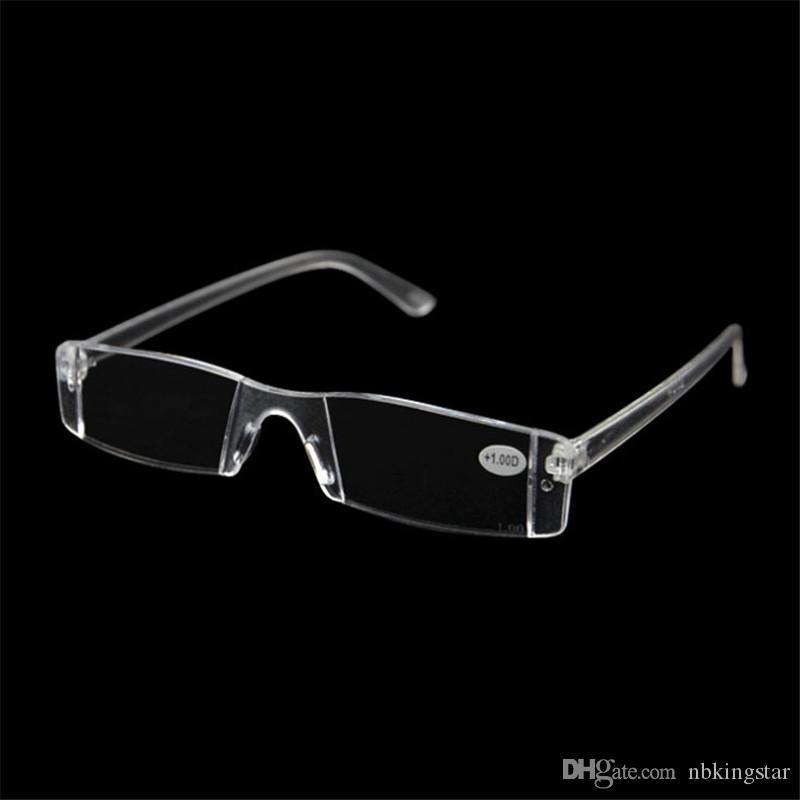 20pcs / lot 플라스틱 명확한 무 안경 안경 노안경 깨지지 않는 여성 남성 투명 독서 용 안경 + 1.00- + 4.00