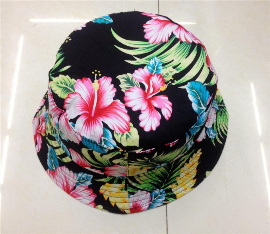 女性の綿の釣り屋外の帽子の夏の花の帽子7プリント利用可能な送料無料