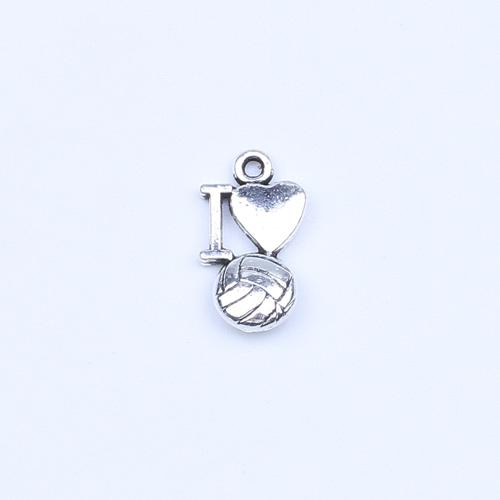 New fashion silver/copper retro I Love Volleyball Pendant Manufacture DIY jewelry pendant fit Necklace or Bracelets charm 500pcs/lot 5235