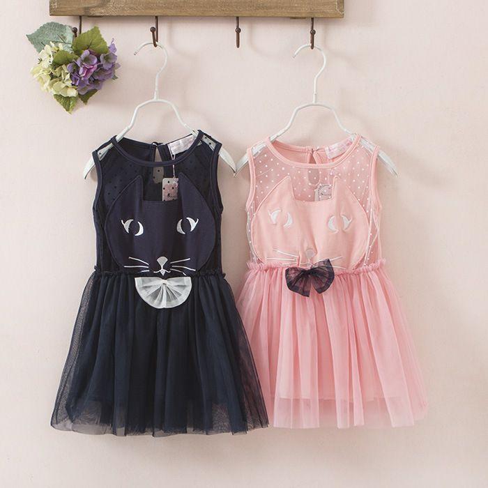 고양이 투투 드레스 만화 고양이 드레스 유행 아이 드레스 유아 공주 파티 드레스 드레스 레이스 투투 드레스 재고 있음