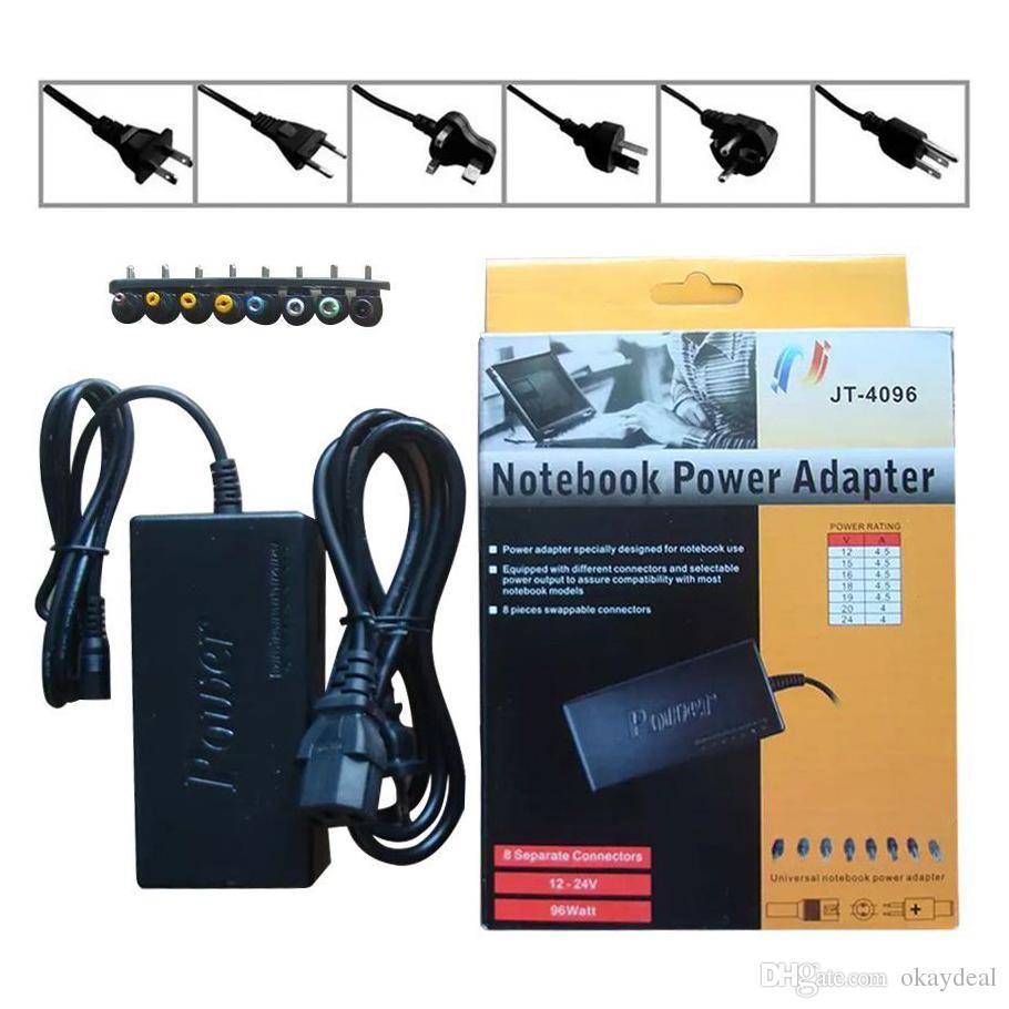 Livraison gratuite! Adaptateur secteur universel pour chargeur d'ordinateur portable 96W pour HP / DELL / IBM Lenovo ThinkPad 20PCS