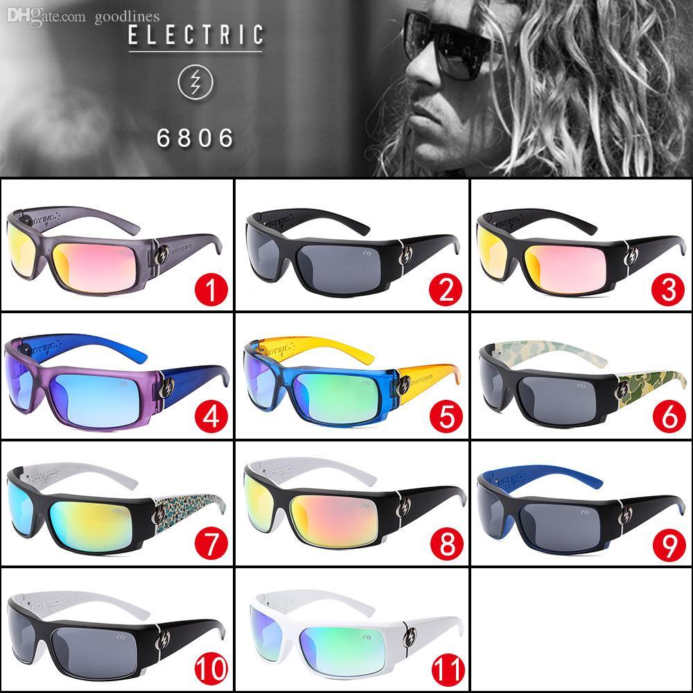 Großhandels-Männer elektrische Sonnenbrille Mode Sport Sonnenbrille Mann Frauen UV400 Brillen Sonnenbrille oculos de sol ELECTRIC Brille Marke LOGO