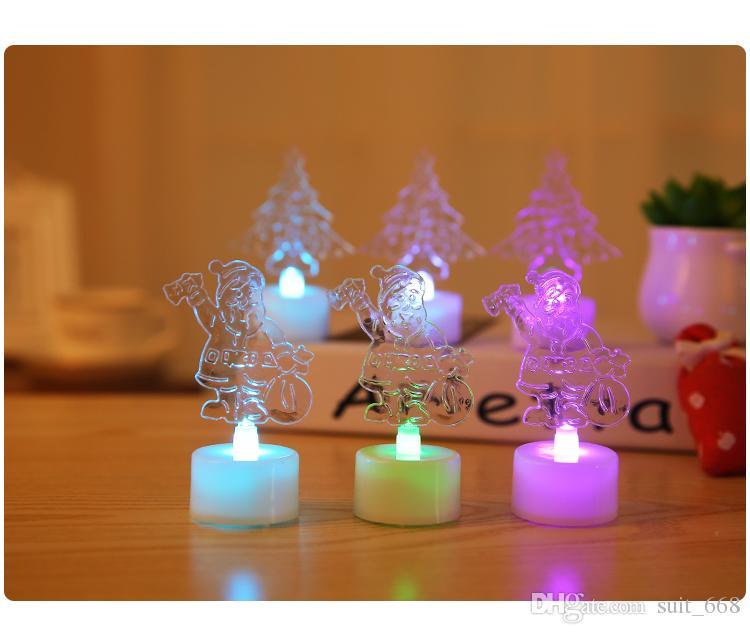توريد الإلكترونية LED شمعة هدية عيد الميلاد الأفكار مضيئة مضيئة ندفة الثلج هدايا عيد الميلاد