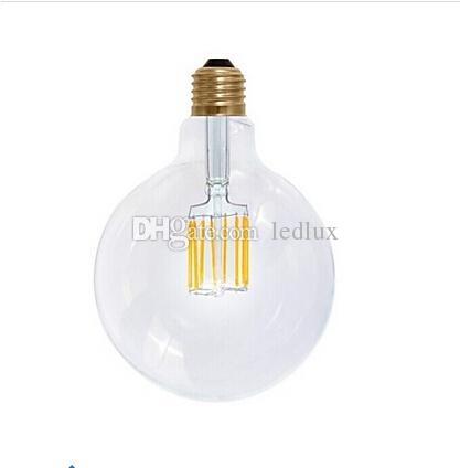 عكس الضوء أدى لمبة الشعيرة 4 واط 6 واط 8 واط مصباح ledfilament g125 led لمبات الضوء e27 / e26 / b22 الدافئة الأبيض بقيادة مصباح ac85-240v 8 قطعة / الوحدة