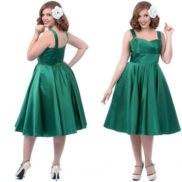 Green Cheap Prom Dress Schatz Sleeveless Homecoming Kleider Reißverschluss Tee-Länge Plus Size Kleider Satin Party Kleider mit Trägern
