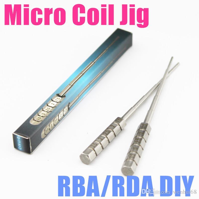 마이크로 코일 지그 코일 링 기가 스테인레스 스틸 코일 도구 SS 마이크로 코일 위크 지그 포장 코일 스크루 드라이버 DIY RDA RBA 재건 가능한 원자