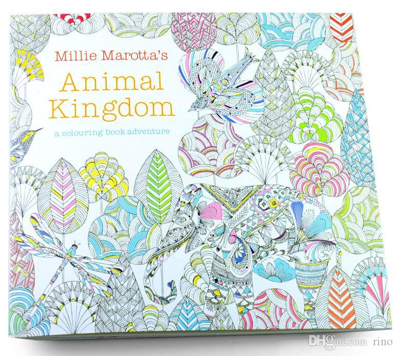 Coloring Book 4 : Cheap adult coloring books 4 designs secret garden animal kingdom