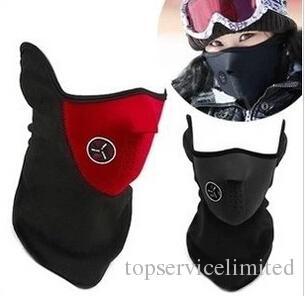 30pcs Neoprene Neck Warm Half Face Mask Winter Veil Windproof For Sport Bike Bicycle Motorcycle Ski Snowboard Outdoor Mask Men Women