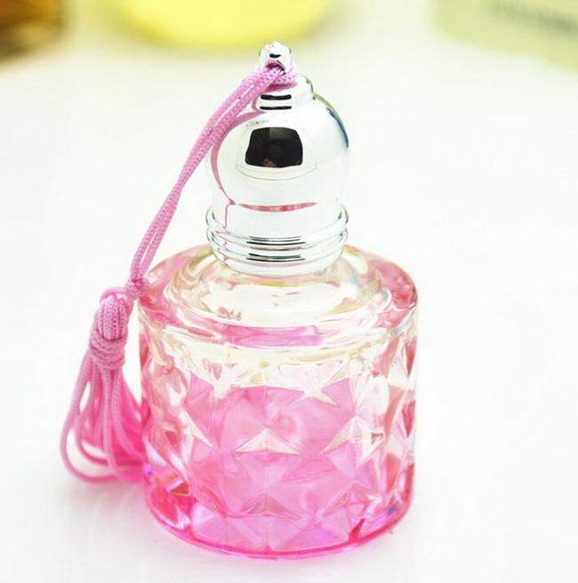 Mini 8 ML Seyahat Doldurulabilir Rulo Rulo Top Boş Sıvı Cam şişe Parfüm ESSENTIAL YAĞ Şişe EMS / DHL Ücretsiz Kargo PB96