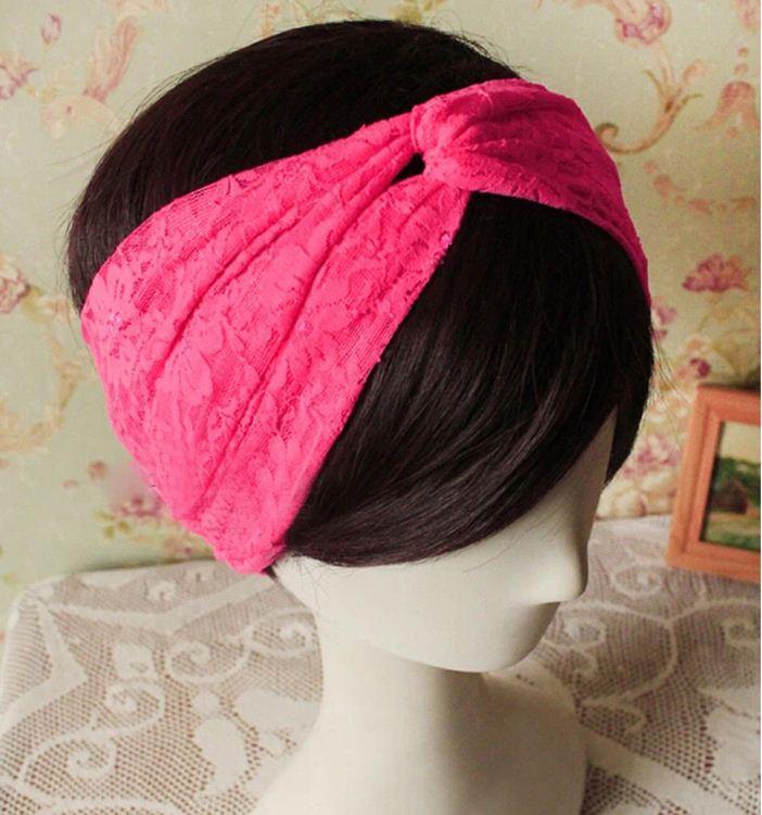 Twist Knoten Marke Stirnband Spitze Turban Haarband Kreuz Stirnbänder Haarschmuck Schönheit Mädchen Yoga Headwear ein Tag eine Farbe