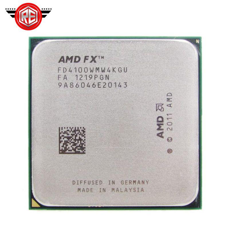 AMD FX 4100 AM3 + 3.6 جيجا هرتز 8 ميجابايت وحدة المعالجة المركزية FX المسلسل مجانا قطع مبعثرة FX-4100