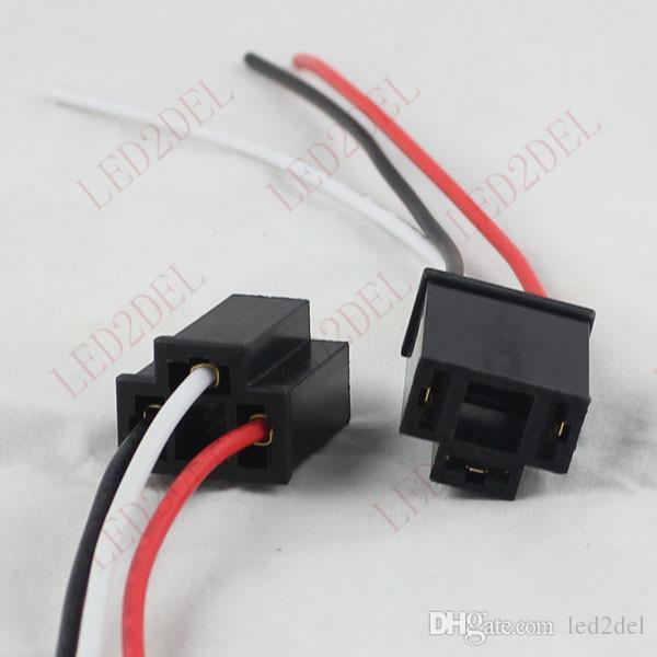 Car Socket Xenon LED Light Bulb Truck Headlight Connector Pigtail on