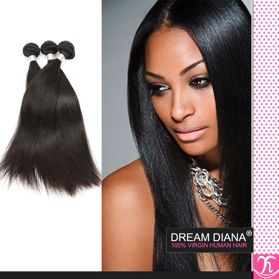 7а класс бразильские девственные волосы кудрявый прямые 4шт Королева ткать красоты девственные бразильские волосы расслоение сделок 100% человеческих волос прямой ткать