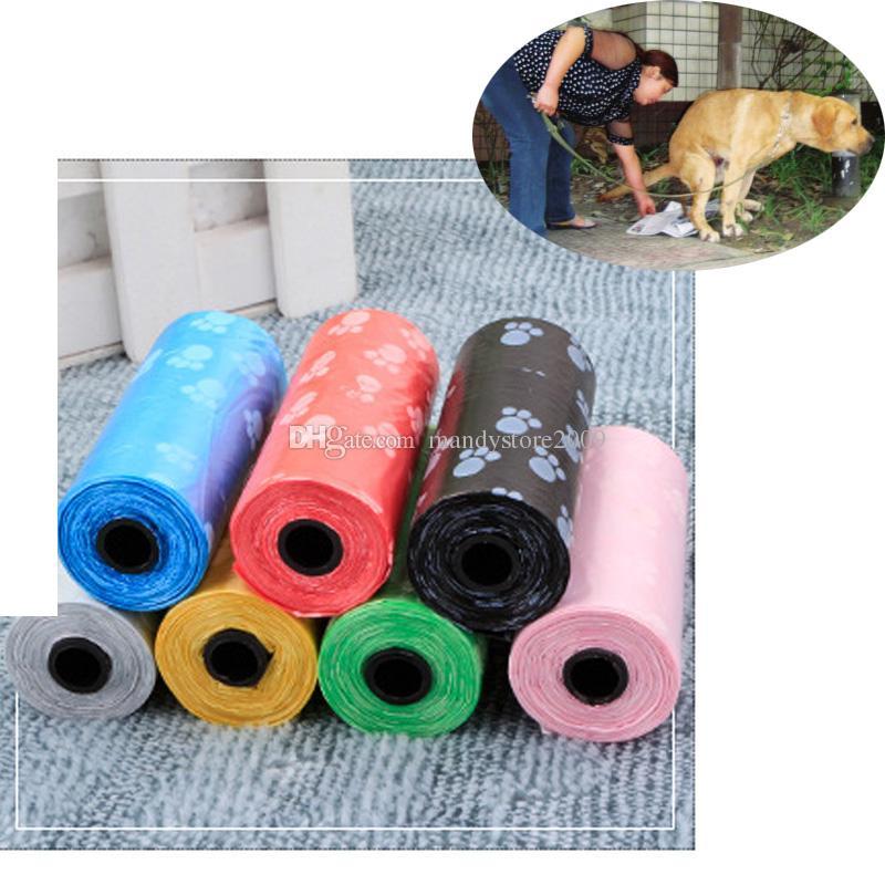 새로운 무료 배송 Painted 애완 동물 강아지 쓰레기 봉투 클린 업 가방은 쓰레기 봉투를 집으로 리필 가정 공급